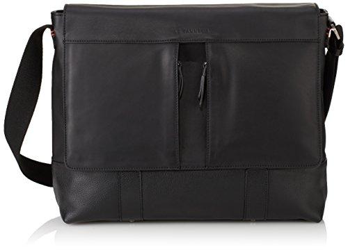 Le Tanneur Lucas Tgk2200, Sac messenger, Taille Unique Noir