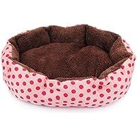 Hosaire mascotas Mat - perro y Gato caliente suave camas para mascotas Almohada Cama Cachorro Sofa Sofa Mat perrera Pad Tamano 36X30X10CM Color Rosa+Punto