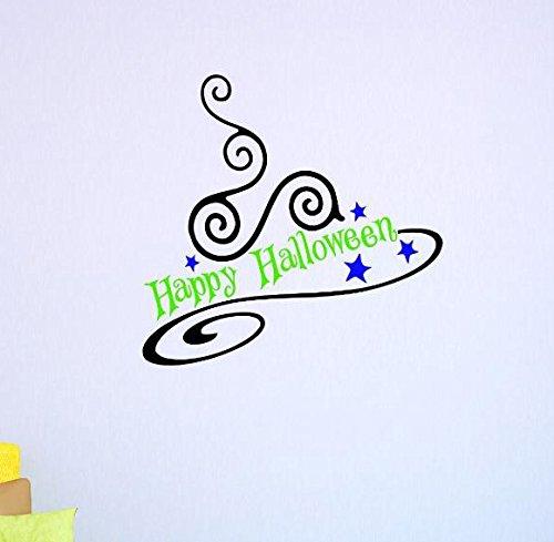 Design mit Vinyl V 1uns V Jer 32451Top Verkauf Aufkleber Wandtattoo Happy Halloween Größe X 30,5cm Farbe, 30,5x 30,5cm - Verkauf Nach Halloween