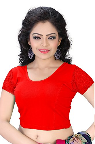 readymade blouses for women stitched (PS-61Red)