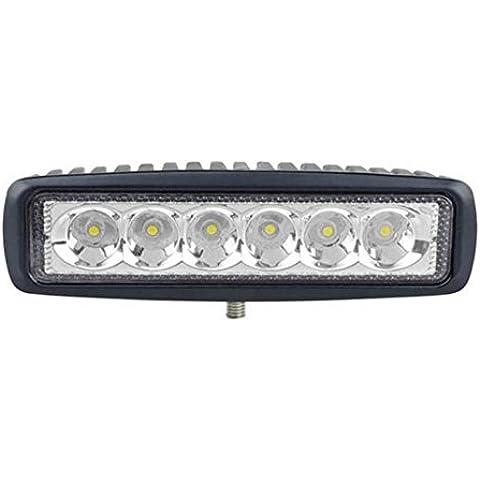 LED18W fuori strada auto Faro SUV camion guida luci di lavoro del chip di cialda rettangolare di bordo 12V 24V