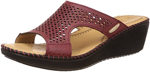 Dr-Scholls-Womens-Laser-Mule-Wedge-Leather-Slippers