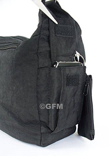 GFM Fashion, Borsa a tracolla donna Multicolore multicolore Small Style 1 - Navy Blue (GHNL)