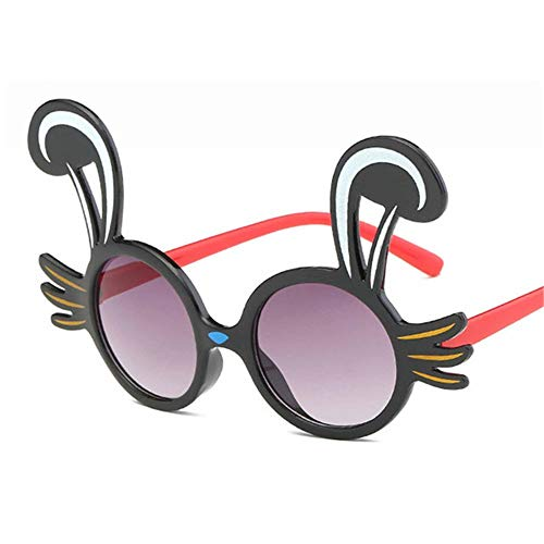 Wang-RX Nettes Kaninchen formt flexible Kindersonnenbrille polarisierte Kind-Baby-Sicherheitsbeschichtungs-Sonnenbrille UV400 Eyewear Shades Infant