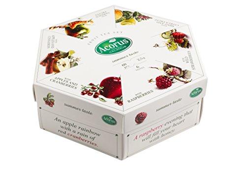 ACORUS Sommergeschmack - natürlicher Früchtetee Set von sechs verschiedenen Geschmacksrichtungen (60 Teebeutel) (Tee Eis Zitrone Mit)