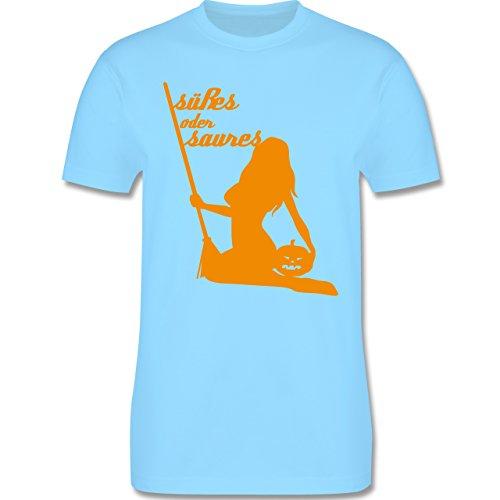 Halloween - Süßes oder Saures - Herren Premium T-Shirt Hellblau