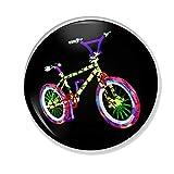 Gifts & Gadgets Co. Untersetzer, rund, mit harter Rückseite, UV-BMX-Rad, 90 mm, mehrfarbig