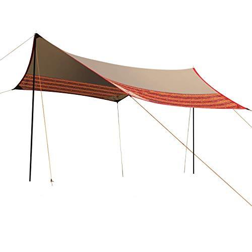 WolfWise Sonnenschutz Zeltplane, Camping Zelt Sonnensegel Tarp Außenzelt für Camping/ Wandern/...