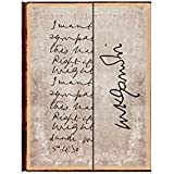 PaperBlanks Embellished Manuscripts Gandhi Right Against Might Hard Cover Single Ruled Diary Notebook - 10 cm x 14 cm, 176 Pages (Cream)