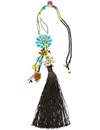Tribal Zone Fashion Hand Crafted Long Alloy Necklace Necklace With Tassels For Girls