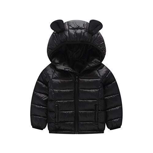Minizone Bambino Giacche Piumino con Cappuccio Inverno Cappotto Leggero Giubbotti con Cerniera 18-24 Mesi