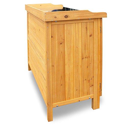 Habau 3106 Gartentisch mit Unterschrank, 98 x 48 x 95 cm -