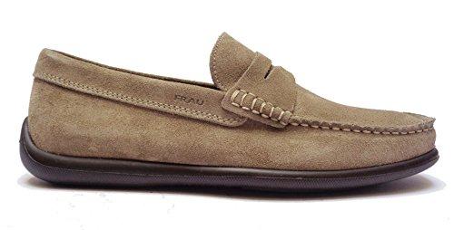 Frau 14a2 scarpe da uomo mocassini in camoscio col. sughero fondo extra-leggero, num. 39