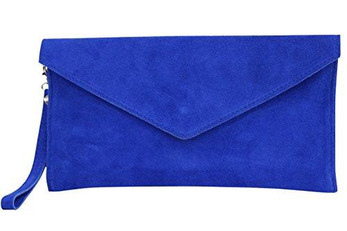 AMBRA Moda - Bolso de hombros de mujeres ( 32 x 2 x 17 cm), azul real