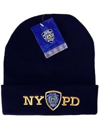 Anti Crime Security Inc. NYPD – Gorro de Invierno Gorro de Punto Azul  Marino con 4e5824c1f2c