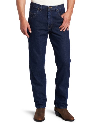 Wrangler Men's Big Rugged Wear Relaxed Fit Jean, Antique Navy, 46x34 -