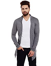 Chill Winston Charcoal Color Cotton Blend Shrug For Men