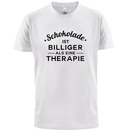 Schokolade ist billiger als eine Therapie - Herren T-Shirt - 13 Farben Weiß