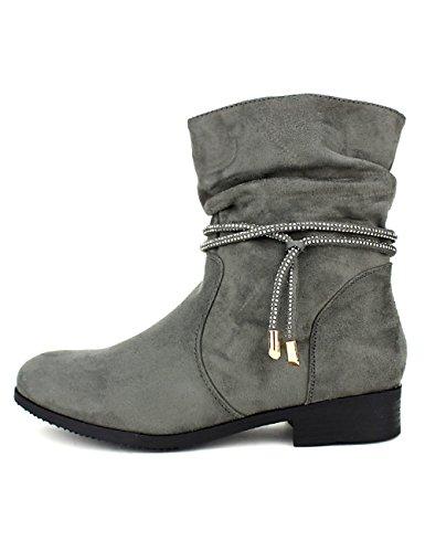 Cendriyon Bottines Grises Grandes Pointures CINKS Me Chaussures Femme