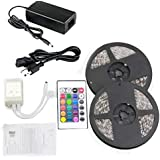 10M Adhesive LED Light String of 600 Bulbs with Remote Control and Energy Saver Adapter 12V, 16 colors