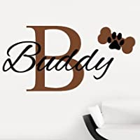 V&C Designs Ltd Personalised Pet Dog Name Biscuit Colour Wall Sticker Wall Decal Wall Art Vinyl Wall Mural