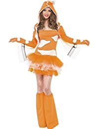 Fever Clownfish Tutu Dress With Detachable Straps X-small Orange
