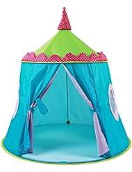 LD-Tente Princesse et Prince Castle Maison de jeux pour enfants pour les jeux d'intérieur et de plein air Bleu