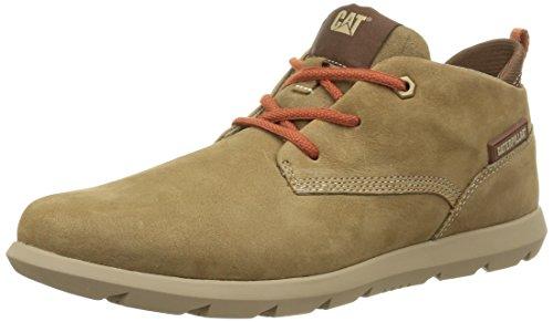 Caterpillar Roamer Mid - Zapatos de Cordones de Cuero para Hombre, marrón (Marron (Treemoss)), 43