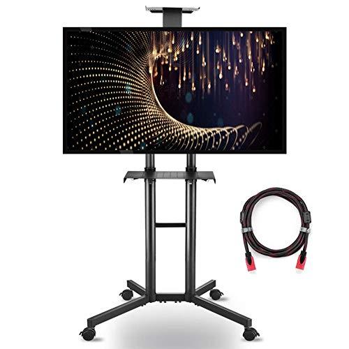 CCDZDM Rollender Tv-Ständer Mobiler Tv-Wagen Für 32-70 Zoll Abschließbare Lenkrolle Für Flachbildschirm-Led-LCD-Plasma-Bildschirm Konferenzbüro Empfangshalle Schlafzimmer Wohnzimmer