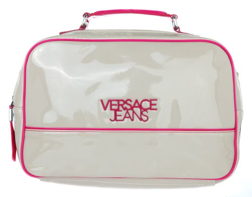 Versace, Borsa a spalla donna Grigio Grau-Pink 33 cmx 21 cmx 10 cm
