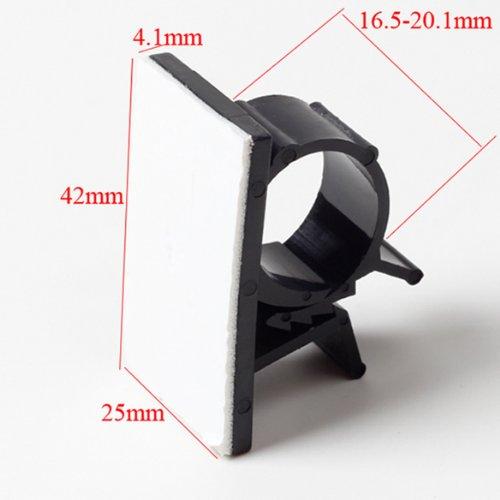 GAOHOU Lot de 10 serre-câbles ajustables Dos adhésif Noir Cable Diameter 17mm-20mm