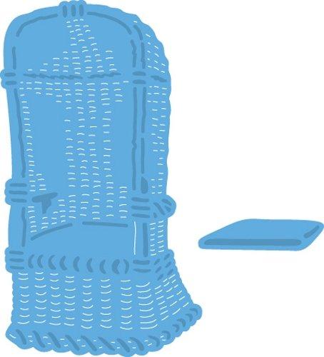 Marianne design creatable poltrona da spiaggia, metal, blu, 4.6x8x0.4 cm