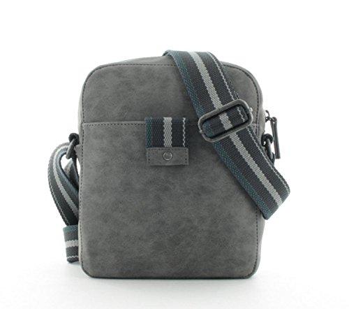 s.Oliver RED LABEL Herren City Bag im Vintage-Look grey 1 (Luggage Label Vintage)