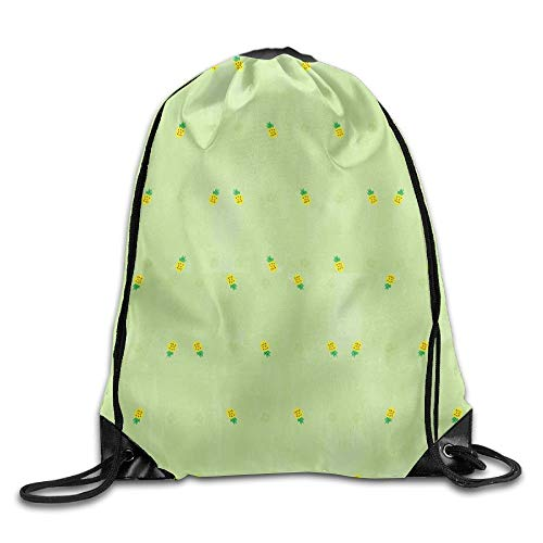 ZHIZIQIU Summer Pineapple Ladies Drawstring Bags Sports Backpack Bundle Pack Shoulder Bags -
