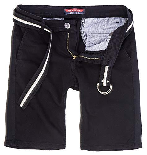 Top-mann, Der Slim-jeans (Rock Creek Herren Chino Shorts Hose Kurz Chinoshorts Inkl Gürtel Männer Sommer Bermuda Stretch Rc-2133 40 Schwarz)