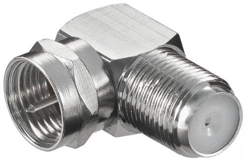 Preisvergleich Produktbild 10 Stück Winkel-Adapter F-Stecker auf F-Buchse