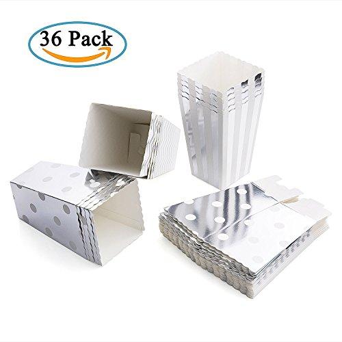 Diealles Popcorn Boxes, 36 Stück Popcorn Tüte Popcorn Candy Boxen Behälter für Party Snacks, Süßigkeiten, Popcorn und Geschenke - Splitter