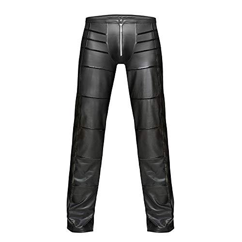 erwäsche Lederhose Strumpfhosen Leggings Nachtclub Bühne Kostüm,Black,XXL ()