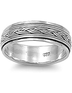 Ring aus Sterlingsilber - Drehbar