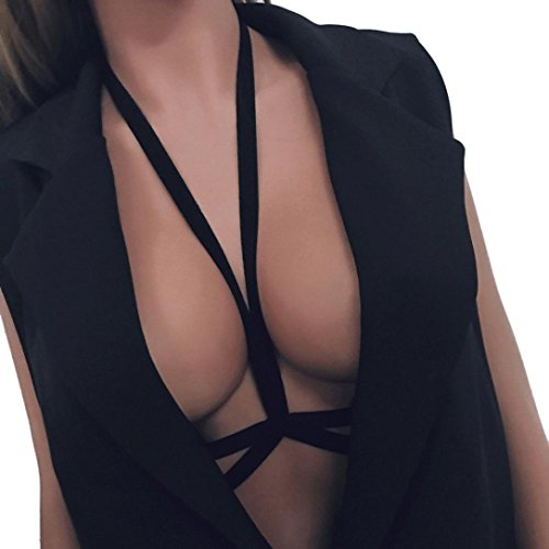 QUINTRA Sexy Frauen Die Damen Aus Strappy Bh KäFig Pflanzliche Top - Bustier - Tops üBer Details (S) (Shirt Baumwolle Underwire Cami)