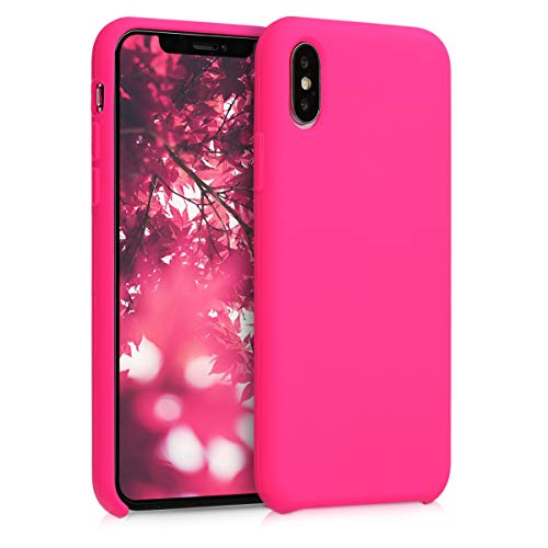 Kwmobile apple iphone xs cover - custodia per apple iphone xs in silicone tpu - back case cellulare rosa shocking