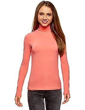 oodji Ultra Mujer Suéter de Cuello Alto Básico (Pack de 2)