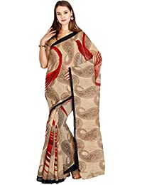 The Chennai Silks - Bhagalpuri Synthetic Saree - Beige - (CCMYSY7063)