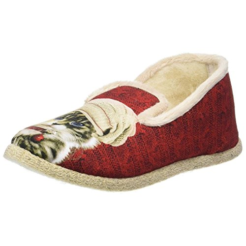 Rondinaud Chinon, Chaussons Bas Femme Rouge