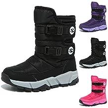 fe52fe279 KAMIXIN Niños Botas de Nieve Impermeable Niña Botas de Invierno Zapatos  Calientes Zapatos de Nieve Outdoor
