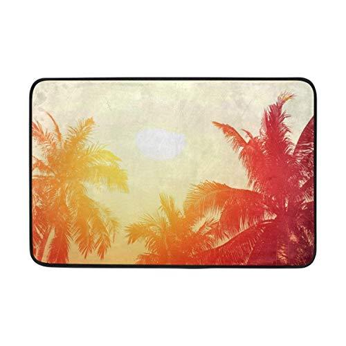 BriHutt Beach Palm Trees Ocean Sea Non Slip Door Home Doormat 23.6x15.7 Inch