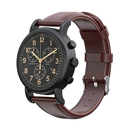 12shage Leder Ersatz 20 mm Uhrenarmband Buckle Wristband Strap Kompatibel mit Weekender/Expedition (Weekender Uhrenarmbänder)