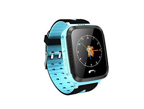 Smart Watch,Janly Y34 Anti verlorenes Kind GPS-Verfolger PAS Das intelligentes Telefon GPS Uhr Aufspürend in Position Bringt (Blau) (Uhr-verfolger Kinder Für)