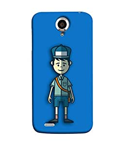 Lenovo S820 Back Cover Cartoon Postman Image With Blue Background Design From FUSON