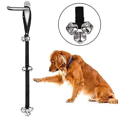 MEKEET Türklingel für Hundetraining, Eisenglocken, verstellbares Nylonseil, Toiletten-Trainingsglocken